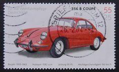 356 Coupe Car Germany -Handmade Framed Postage Stamp Art 6844