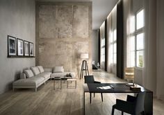 Ceramic Porcelain stone tiles for floor and wall: La Roche Italian Interior Design, Luxury Interior, Interior Styling, Interior Architecture, Interior Decorating, Wood Effect Porcelain Tiles, Wood Look Tile, Xxl Couch, Style Tile