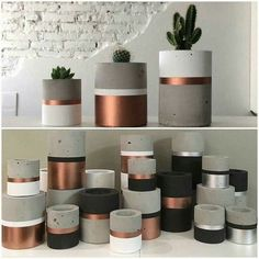 23 Clever DIY Christmas Decoration Ideas By Crafty Panda Cement Art, Concrete Crafts, Concrete Projects, Concrete Design, Concrete Planters, Diy Planters, Concrete Houses, Slow Design, Painted Plant Pots