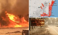 Mass evacuations in southern New South Wales and eastern Victoria were underway overnight as officials warned fires will spread wider than ever before on Saturday. Australia Kangaroo, Road Closure, Too Close For Comfort, Service Map, Kangaroo Island, Wipe Out, Blue Mountain, South Australia, Magic