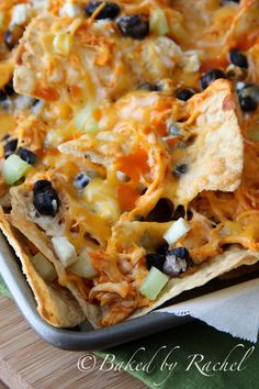 Loaded Buffalo Chicken Nachos