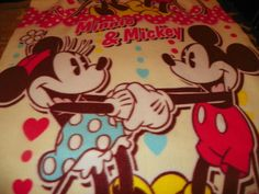 Mickey Mouse and  Minnie Mouse Fleeced by SusiesFancyFleece, $26.00