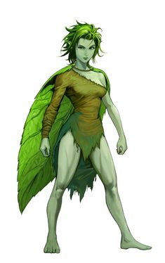 Female Fey Touched Elf Nature Oracle Druid - Pathfinder PFRPG DND D&D d20 fantasy