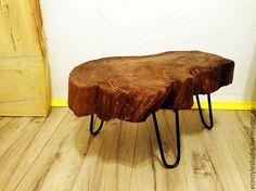 Мебель ручной работы. Ярмарка Мастеров - ручная работа. Купить Стол из слэба дерева / стиль лофт. Handmade. Коричневый