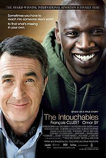 The Intouchables (French: Intouchables, which translates literally as Untouchable) is a French film directed by Olivier Nakache and Éric Toledano. The movie tells the development of the improbable friendship between Philippe, a wealthy tetraplegic, and Driss, a young offender of Senegalese descent, who is hired as his live-in carer.