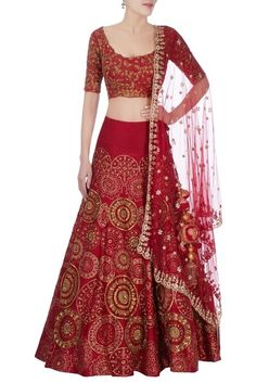 Shop Gazal Gupta Red sequin embellished lehenga , Exclusive Indian Designer Latest Collections Available at Aza Fashions Lehenga Choli Wedding, Half Saree Lehenga, Party Wear Lehenga, Anarkali, Half Saree Designs, Lehenga Designs, Saree Blouse Designs, Indian Skirt, Indian Dresses