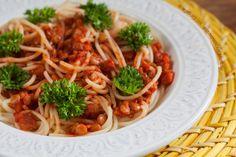 Веганский рецепт: Спагетти с Острым Соусом из Чечевицы | vegelicacy.com #веган #веганство