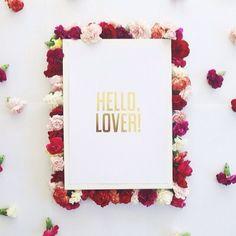 'Hello Lover' gold foil print in the shop! ❤️ www.misspoppydesign.com image via @dandymoon #misspoppyxdandy #goldfoil #hellolover #satc