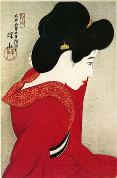 Before the Mirror by Ito Shinsui, 1916 | WikiArt.org