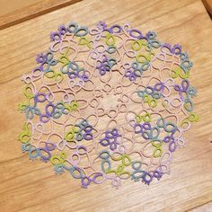 tatting : 다육이(pattern by HUIatelier) #doily #tatting #handmade