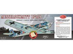 Guillow Messerschmitt BF-109 Wooden Aircraft Kit | Hobbies