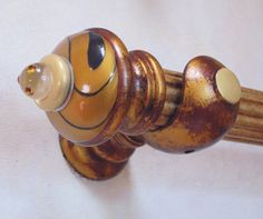 Susan Goldstick Decorative Finials Congo Light-Deep Gold/Light Gold/Topaz Crystal