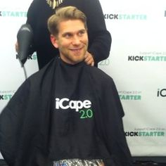 Clients love the iCape! Preorder yours today at http://kick.icape.biz  Make your clients happy and give them the ultimate experience!   #iCape #kickstarter #barber #barbershop #salon #hairstylist