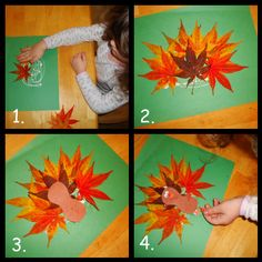 turkey craft with leaves | ... leaves from the trees. This morning, we gathered said leaves and