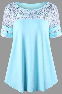 Fashion summer outfits plus size shirts ideas Plus Size Shirts, Plus Size Blouses, Plus Size Tops, Modelos Plus Size, Funny Shirts Women, T Shirts For Women, Looks Plus Size, Mode Hijab, Fashion Outfits