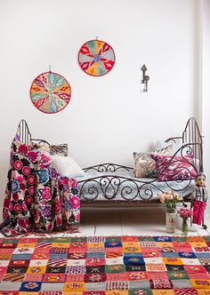 child's room. Love this bed bed frames, beds, colors, bedroom design, boho, bohemian bedrooms, rugs, bohemian style, kid room