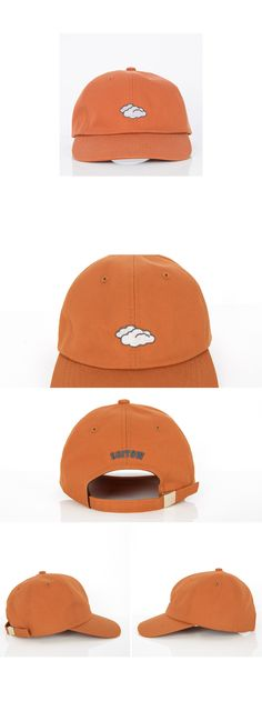 Match your mood with this classic baseball cap. Features a cloud embroidered symbol with additional lettering at the back. It comes with classic button top, round crown, wide brim, and adjustable metal buckle closure for a snug fit. Best for a casual wear