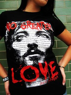 NO GREATER LOVE-Christian T-shirt by JCLU Forever Christian t-shirts