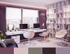 Purple & Modern office   techlovedesign.com