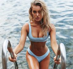 Shop for stylish Designer Swimwear for Women at REVOLVE CLOTHING. Find designer bathing suits including Bikinis, One Piece suits & more from top brands! Sexy Bikini, Bikini Beach, Bikini Swimwear, Monokini, Bikini Bleu, Beauté Blonde, Jolie Lingerie, Sexy Lingerie, Beach Girls