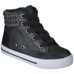 58d9eec645d13 Toddler Boys Cherokee Evea High Top Sneaker - Black Petit Garçon