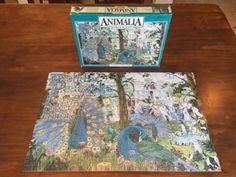 Vintage Animalia Jigsaw Puzzle Proud Peacocks 750 Pcs Graeme Base Spears 1980s