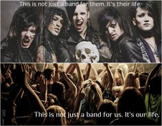 this is so true, and fewww when I saw the Andy black thing I thought NOOOO they're over but black veil brides is still a band
