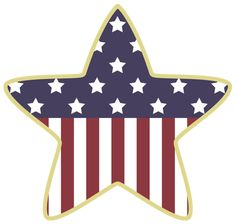 American Celebration Independence Day This Old Flag Star ClipartStar