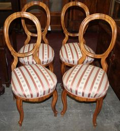 Chairs, Louis Philippe, walnut, 1850 - 98 cm x 44 cm x 498 cm (h x w x d), www. Armchairs, Sofas, Antique Furniture, Antiques, Home Decor, Wing Chairs, Couches, Antiquities, Antique