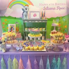 You need to see this gorgeous pastel My Little Pony party! See the whole party in our profile link!