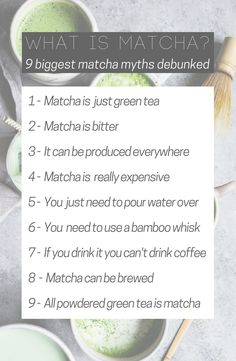 What is Matcha ?  9