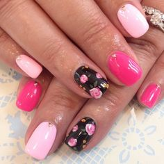 Pin by 惠子 on Nail collection Fancy Nails, Love Nails, How To Do Nails, My Nails, Pink Nails, Gorgeous Nails, Pretty Nails, Diamante Nails, Kawaii Nails