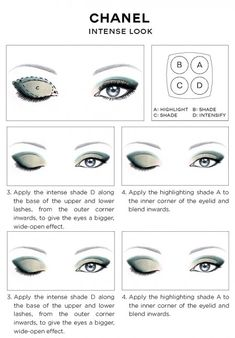CHANEL Eye Makeup Chart_CHANEL INTENSE EYES LOOK how-to 2014