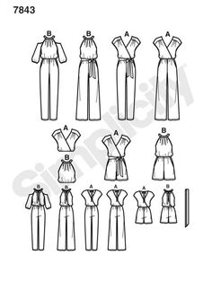 7843 Simplicity Schnittmuster Overall Jumpsuit