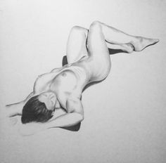 Nude girl and guy drawing #4