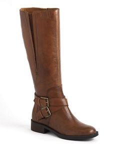 Shoes | Tall Boots | Sporty Leather Riding Boots | Lord and Taylor - no 5.5 - shaft height??