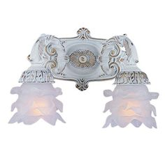 Buy the Crystorama Lighting Group Antique White Direct. Shop for the Crystorama Lighting Group Antique White Paris Flea Market 2 Light Floral Double Wall Sconce and save. Bathroom Wall Sconces, Candle Wall Sconces, Vanity Lighting, Wall Sconce Lighting, Bathroom Lighting, 12 Volt Led, Paris Flea Markets, My Home Design, Joss And Main