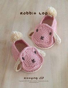 Bunny crochet baby shoe pattern - digital download - Rabbit baby booties crochet - Long ears pom pom tail moccasin socks