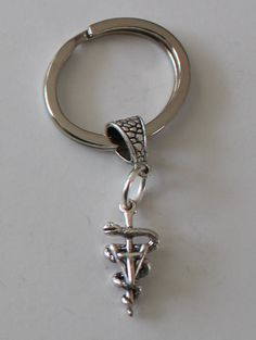 Sterling 3D VET TECH Key Ring Key Chain  by ShymaliLlamas on Etsy, $23.00