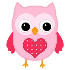 Pink in Love Birds Clipart. Owl Embroidery, Owl Applique, Hand Embroidery Patterns, Vogel Clipart, Bird Clipart, Owl Clip Art, Owl Art, Owl School, Scroll Saw Patterns Free