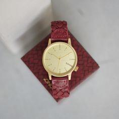 Timeless Timepiece Wednesdays with Winston Woven Burgundy.