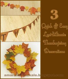 Amaranth & Kale: Fall & Thanksgiving Decorations (Quick, Easy, DIY, Last-Minute).