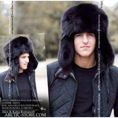 Fox Outdoor Sombrero de Piel Lumberjack Rojo//Negro