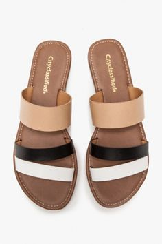 15 Colorful Sandals You'll Wear All Summer #refinery29  http://www.refinery29.com/color-block-sandals#slide1