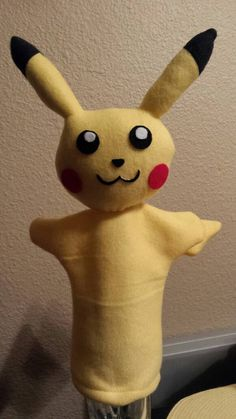 Hey, I found this really awesome Etsy listing at https://www.etsy.com/listing/467422626/pokemon-pikachu-hand-puppet