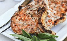 Bourbon Grilled Pork Chops with Peach Barbecue Sauce