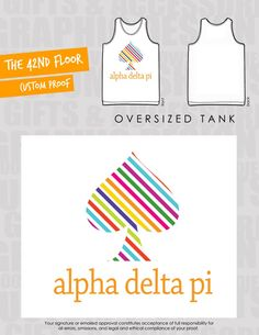 @kate spade new york inspired #ADPi tank from Zeta Iota chapter at Georgia College.