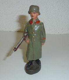 Wachsoldat Reichswehr Elastolin Soldat IM Mantel M Stahlhelm 10 5 CM Massefigur…