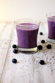 Blueberry Chia Blast Smoothie - To make low carb use your favorite Sugar Free Sweetener instead of honey