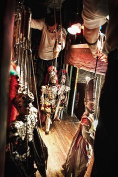 The Cuticchios are a family in Palermo, keeping alive the tradition of Sicilian puppetry.